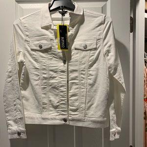 White denim Buffalo jacket